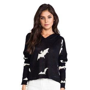 Wildfox Bats Hooded Sweater